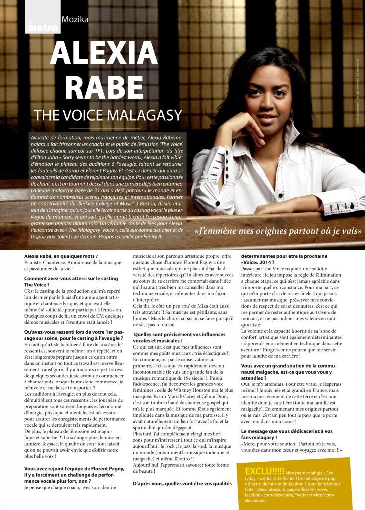 Alexia Rabé chanteuse et pianiste malgache interview