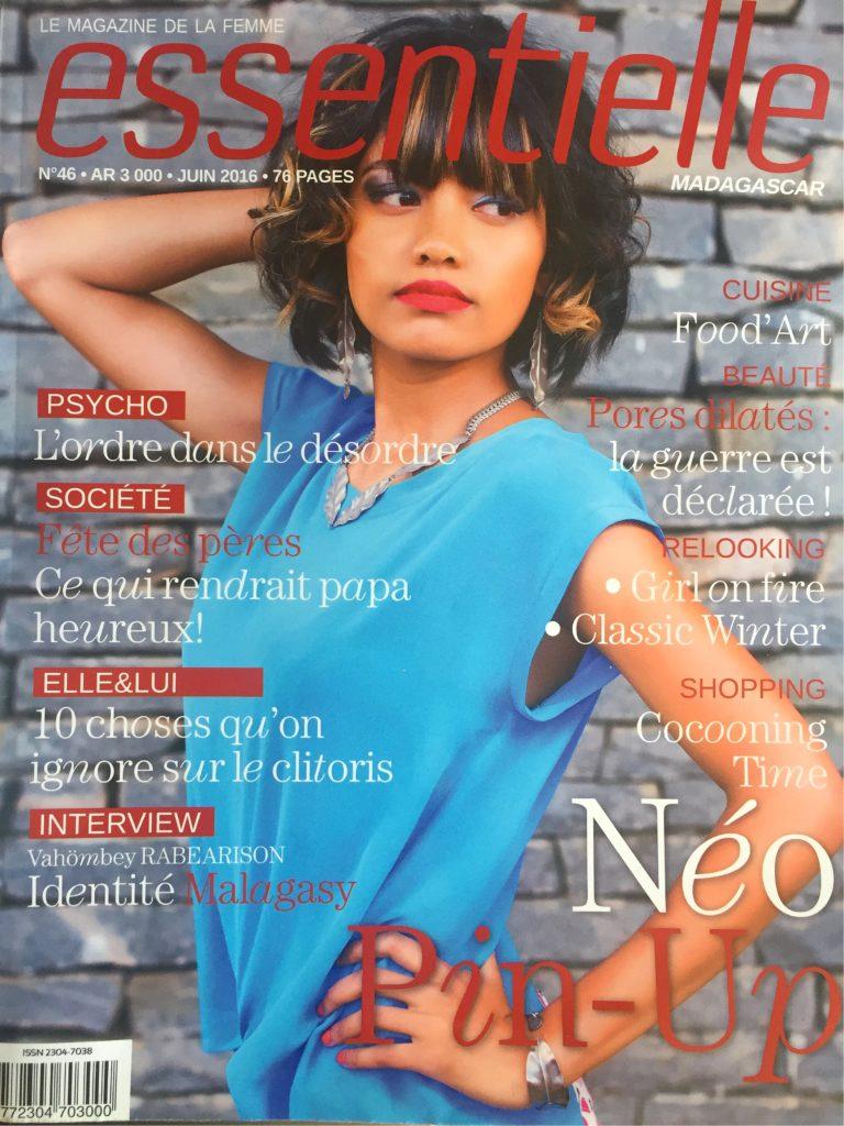 Alexia Rabé dans le magazine Essentielle