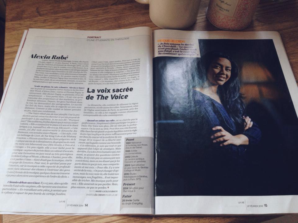 Alexia Rabé dans le magazine La Vie