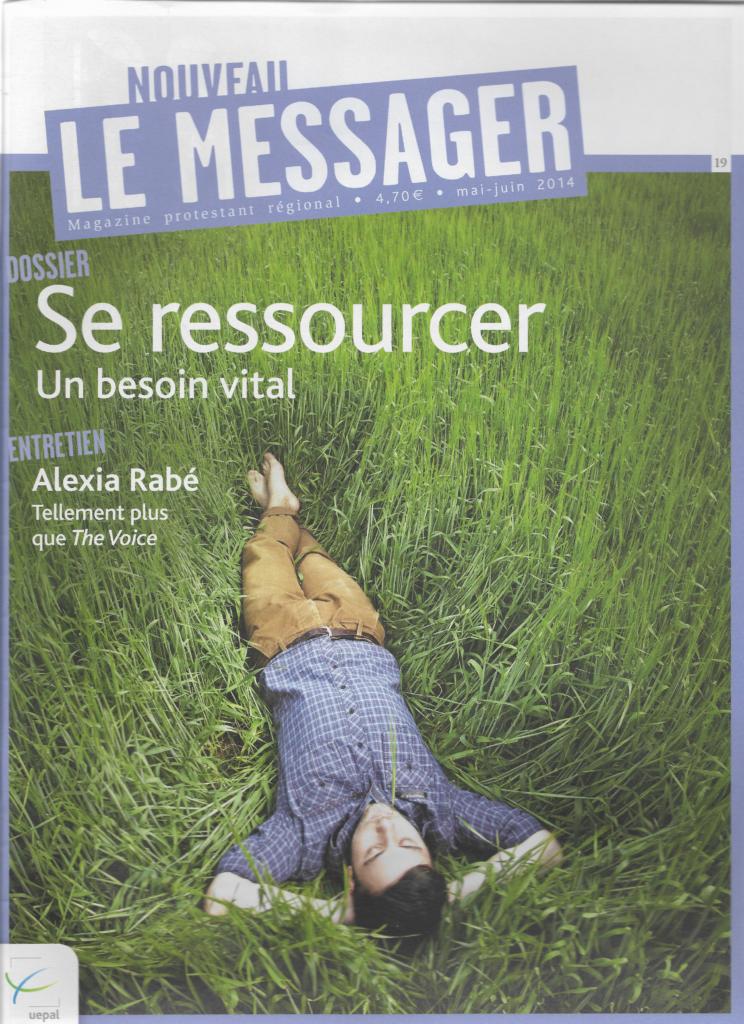 Interview Alexia Rabé dans le magazine Le Nouveau Messager